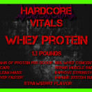 Strawberry Whey Protein Label